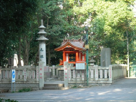 20080111tokyo_jussha007keduka.JPG 関神社内の毛塚